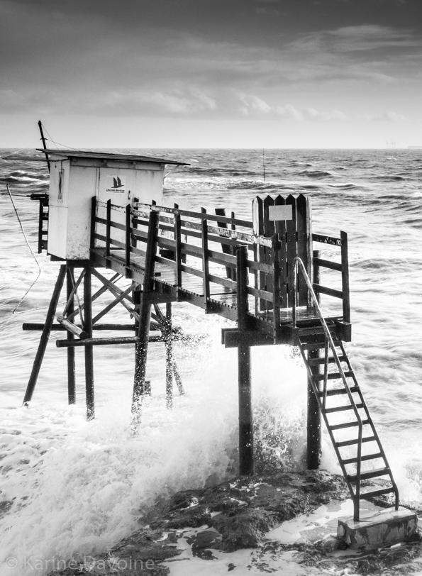 Carrelet-tempête-royan-vagues Carrelets Photographie