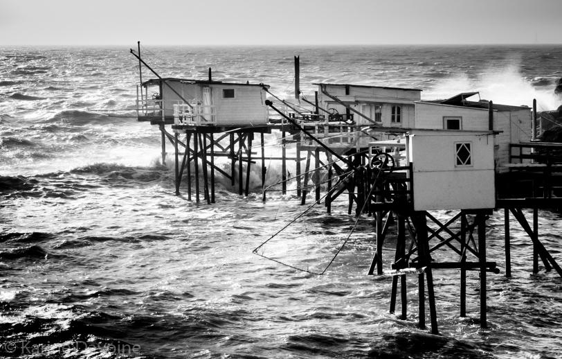 Carrelet-vagues-tempête-royan Carrelets Photographie
