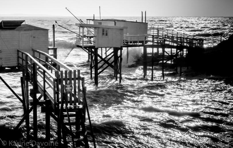 Carrelets-paysage-tempête-Royan Carrelets Photographie