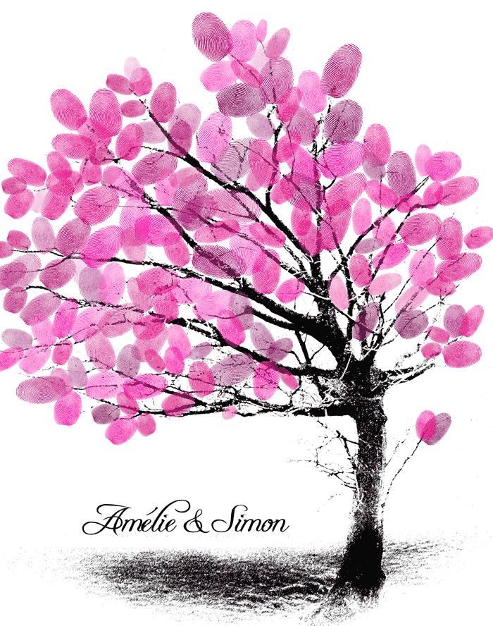 Arbre-dempreintes-finalisé Autour du mariage 2: L'arbre à empreintes Peinture Photographie